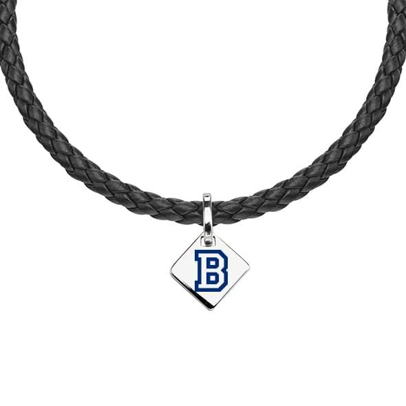 Bucknell Leather Necklace with Sterling Silver Tag