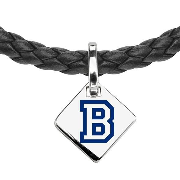Bucknell Leather Necklace with Sterling Silver Tag - Image 2