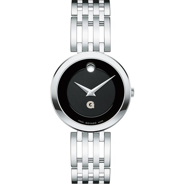 Georgetown University Women's Movado Esparanza Stainless Steel Museum with Bracelet - Image 2