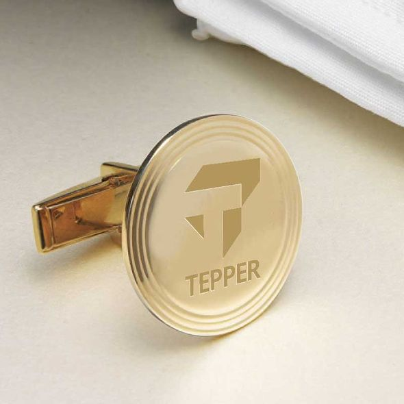 Tepper 14K Gold Cufflinks - Image 2