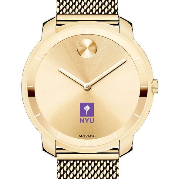 New York University Women's Movado Gold Bold 36