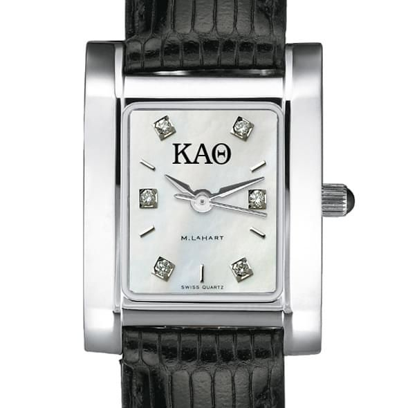 KAT Women's Mother of Pearl Quad Watch with Diamonds & Leather Strap - Image 2