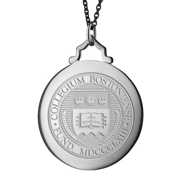 BC Monica Rich Kosann Round Charm in Silver with Stone - Image 2