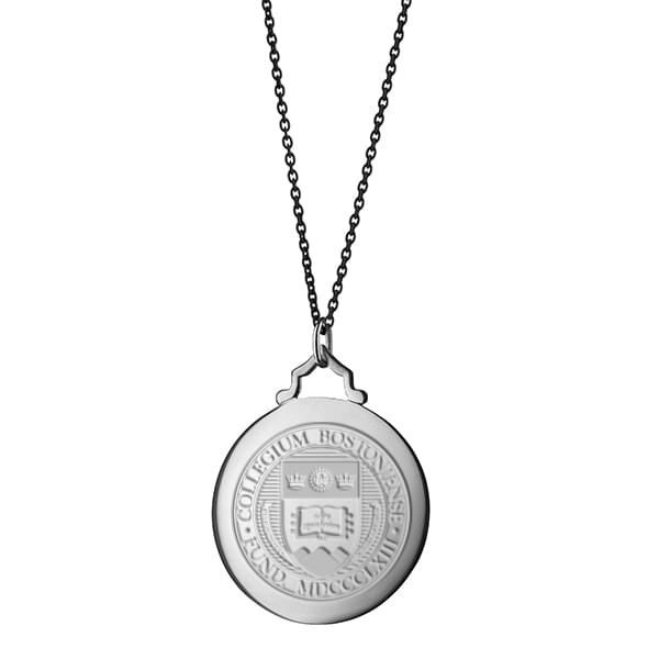 BC Monica Rich Kosann Round Charm in Silver with Stone - Image 3