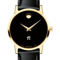 University of Maryland Women's Movado Gold Museum Classic Leather