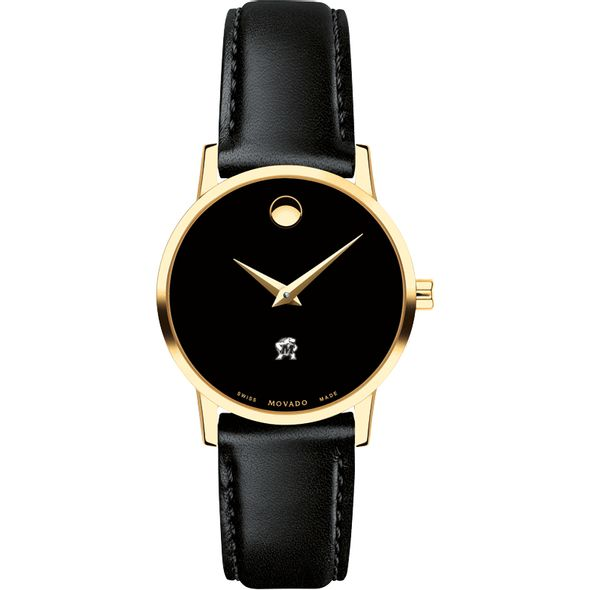 University of Maryland Women's Movado Gold Museum Classic Leather - Image 2