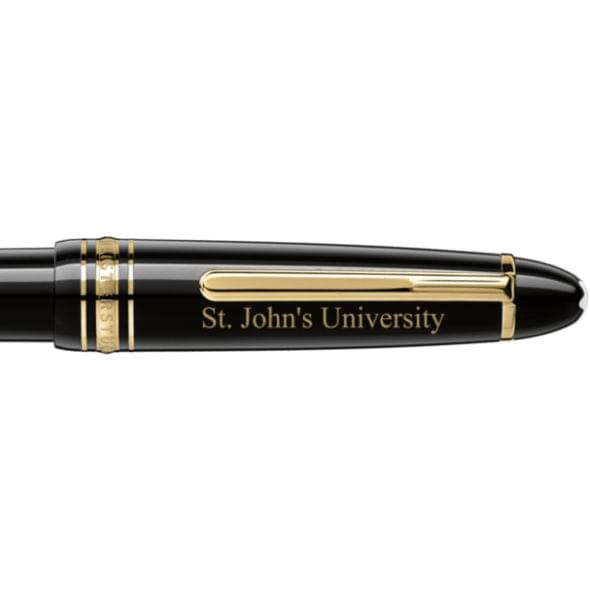 St. John's University Montblanc Meisterstück LeGrand Ballpoint Pen in Gold - Image 2