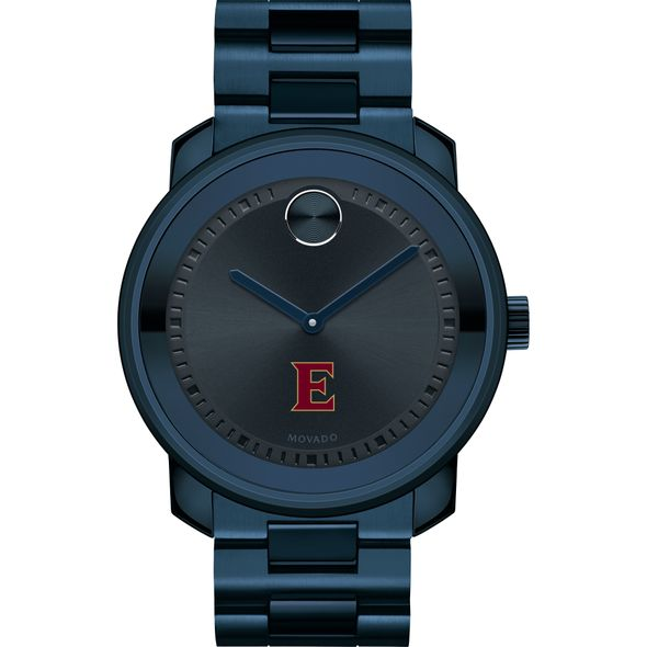 Elon University Men's Movado BOLD Blue Ion with Bracelet - Image 2