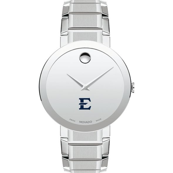 East Tennessee State University Men's Movado Sapphire Museum with Bracelet - Image 2