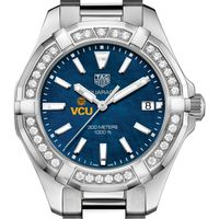 VCU Women's TAG Heuer 35mm Steel Aquaracer with Blue Dial