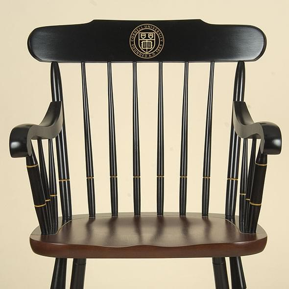 Cornell University Captain's Chair by Hitchcock - Image 2