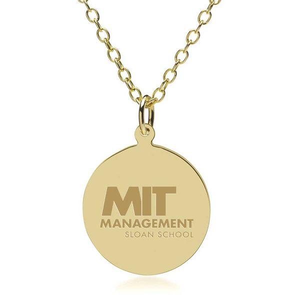 MIT Sloan 18K Gold Pendant & Chain - Image 1