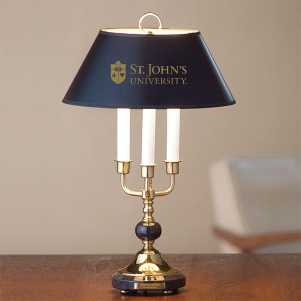St. John's University Lamp in Brass & Marble