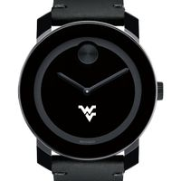 West Virginia University Men's Movado BOLD with Leather Strap