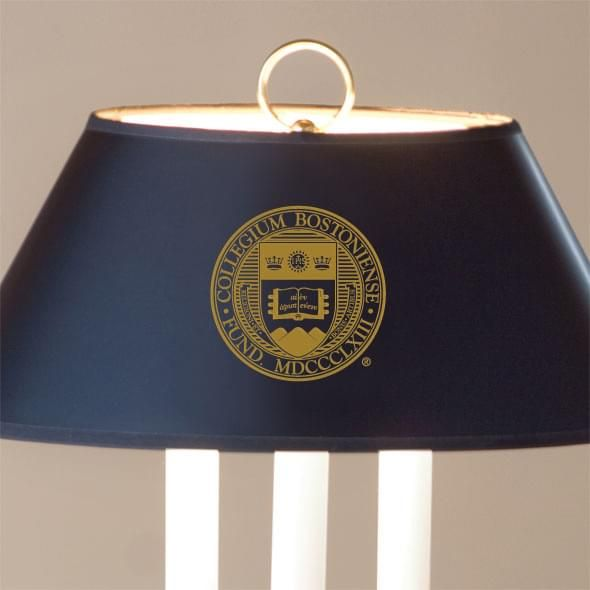 Boston College Lamp in Brass & Marble - Image 2