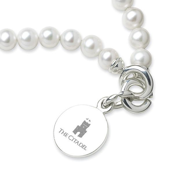 Citadel Pearl Bracelet with Sterling Charm - Image 2