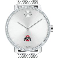 Ohio State Women's Movado Bold with Crystal Bezel & Mesh Bracelet