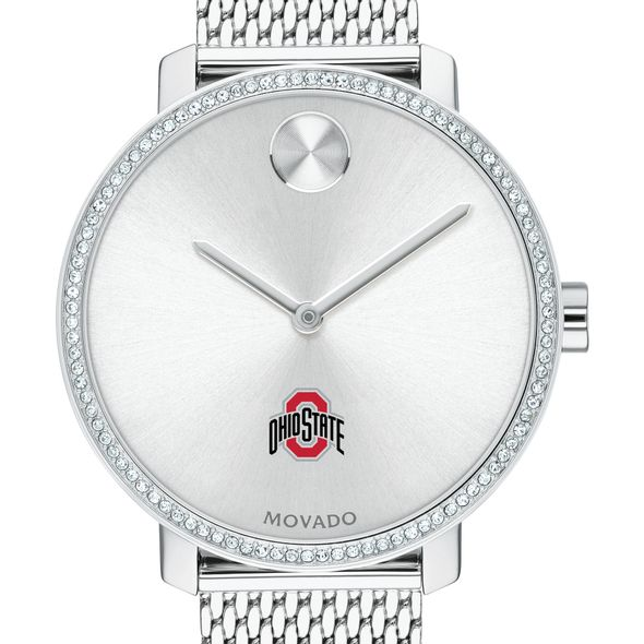Ohio State Women's Movado Bold with Crystal Bezel & Mesh Bracelet - Image 1