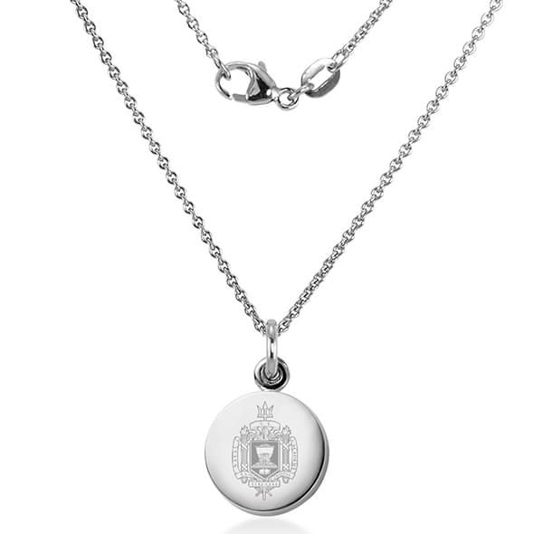 US Naval Academy Necklace with Charm in Sterling Silver - Image 2
