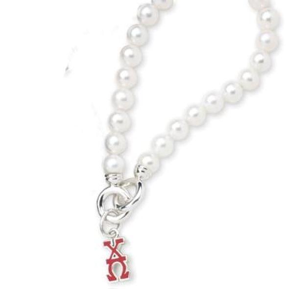 Chi Omega Pearl Bracelet with Greek Letter Charm