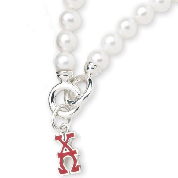 Chi Omega Pearl Bracelet with Greek Letter Charm - Image 2