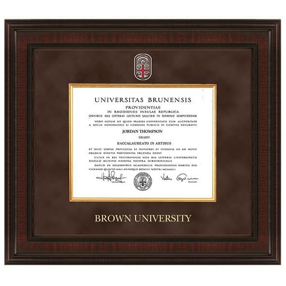 Brown Excelsior Diploma Frame
