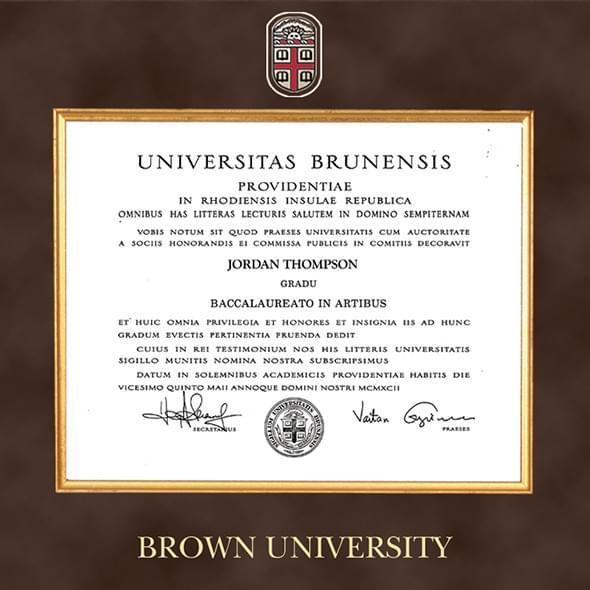 Brown Excelsior Diploma Frame - Image 2