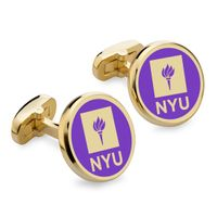 New York University Enamel Cufflinks