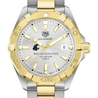 Washington State University Men's TAG Heuer Two-Tone Aquaracer