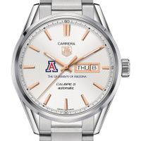 University of Arizona Men's TAG Heuer Day/Date Carrera with Silver Dial & Bracelet