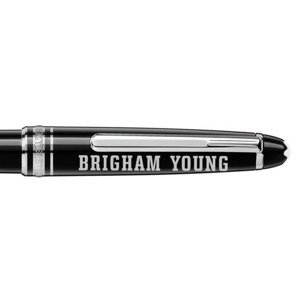 Brigham Young University Montblanc Meisterstück Classique Ballpoint Pen in Platinum - Image 2