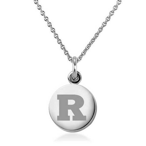 Rutgers University Necklace with Charm in Sterling Silver