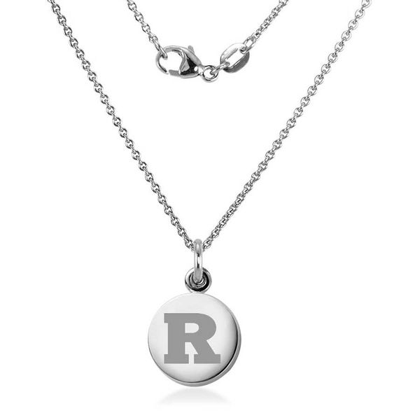 Rutgers University Necklace with Charm in Sterling Silver - Image 2