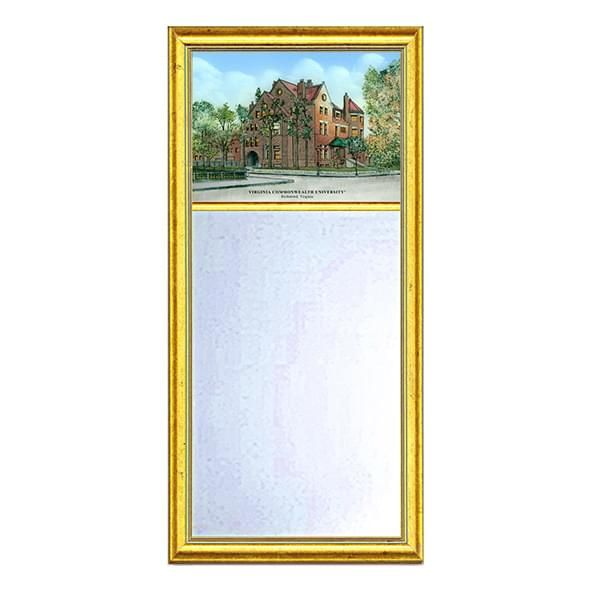 VCU Eglomise Mirror with Gold Frame