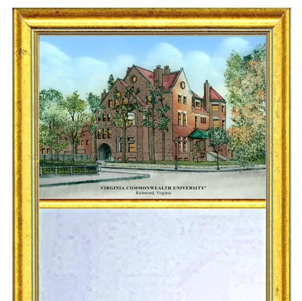 VCU Eglomise Mirror with Gold Frame - Image 2
