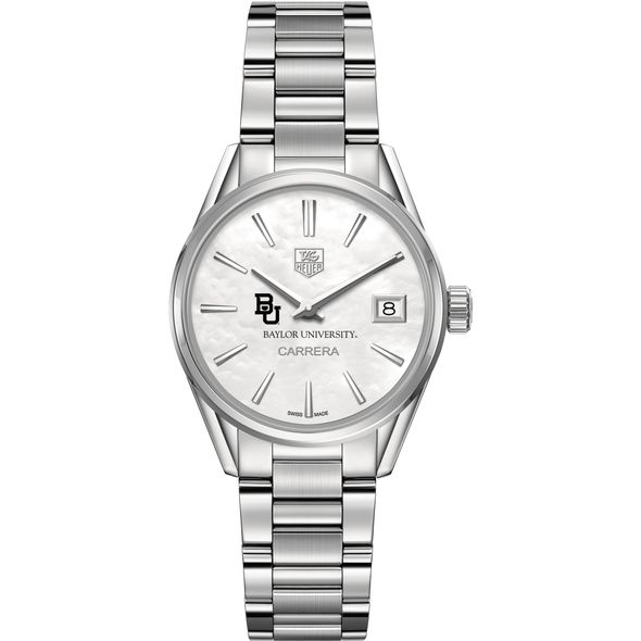 Baylor University Women's TAG Heuer Steel Carrera with MOP Dial - Image 2