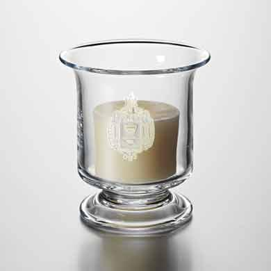 USNA Glass Hurricane Candleholder by Simon Pearce