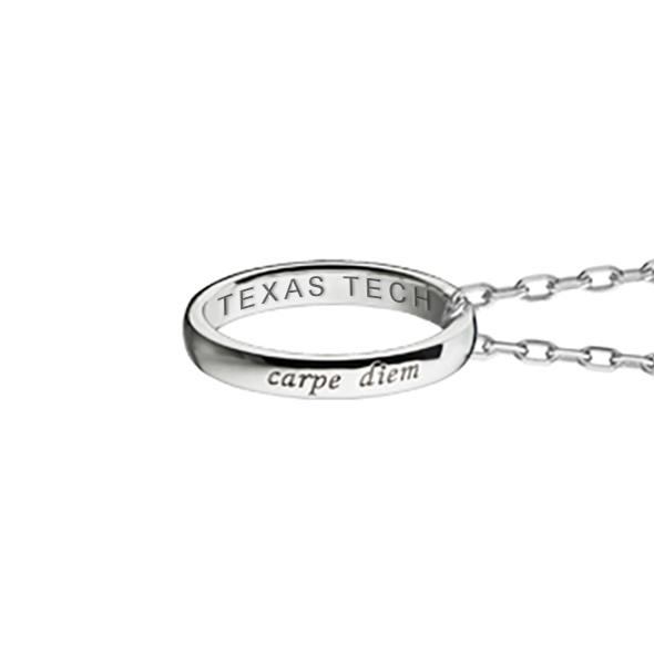 "Texas Tech Monica Rich Kosann ""Carpe Diem"" Poesy Ring Necklace in Silver - Image 3"