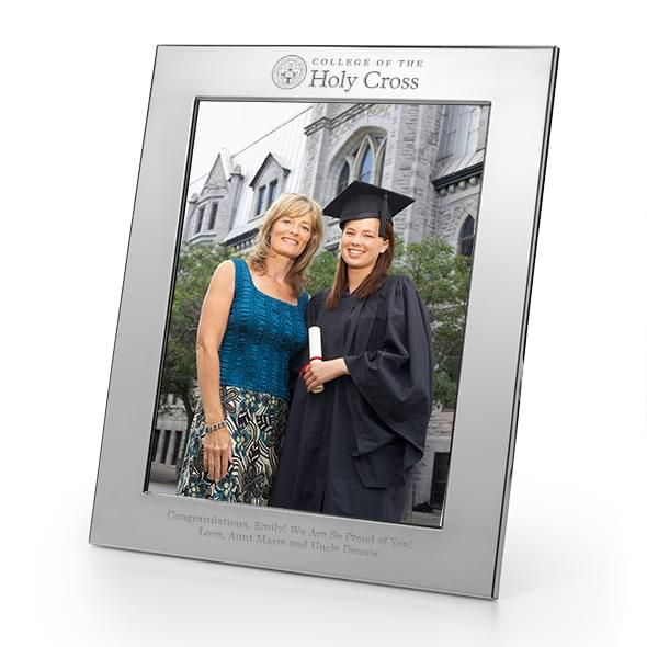 Holy Cross Polished Pewter 8x10 Picture Frame