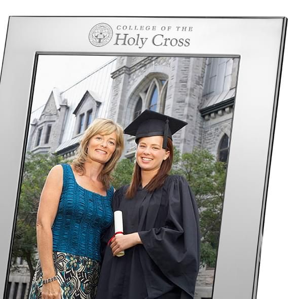 Holy Cross Polished Pewter 8x10 Picture Frame - Image 2