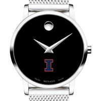 University of Illinois Women's Movado Museum with Mesh Bracelet