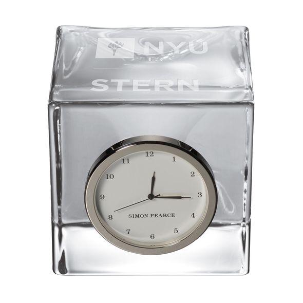 NYU Stern Glass Desk Clock by Simon Pearce