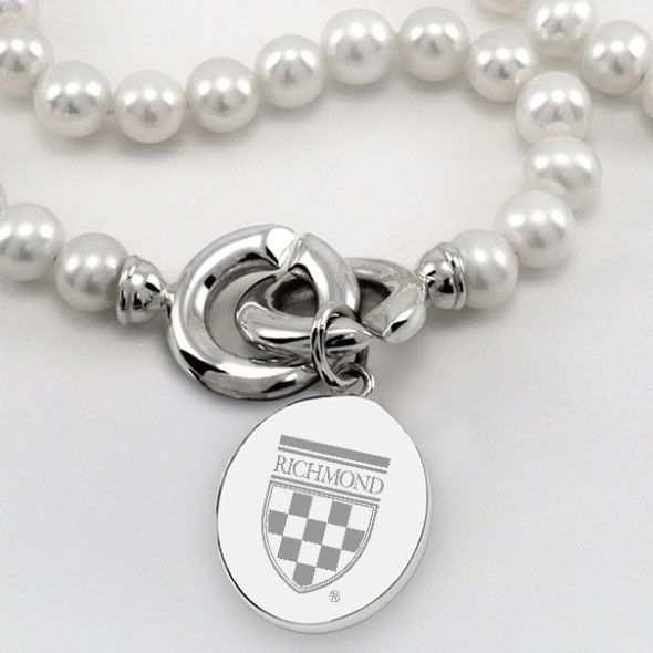 University of Richmond Pearl Necklace with Sterling Silver Charm - Image 2