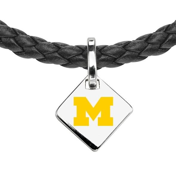 Michigan Leather Necklace with Sterling Silver Tag - Image 2