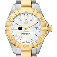 University of North Carolina TAG Heuer Two-Tone Aquaracer for Women