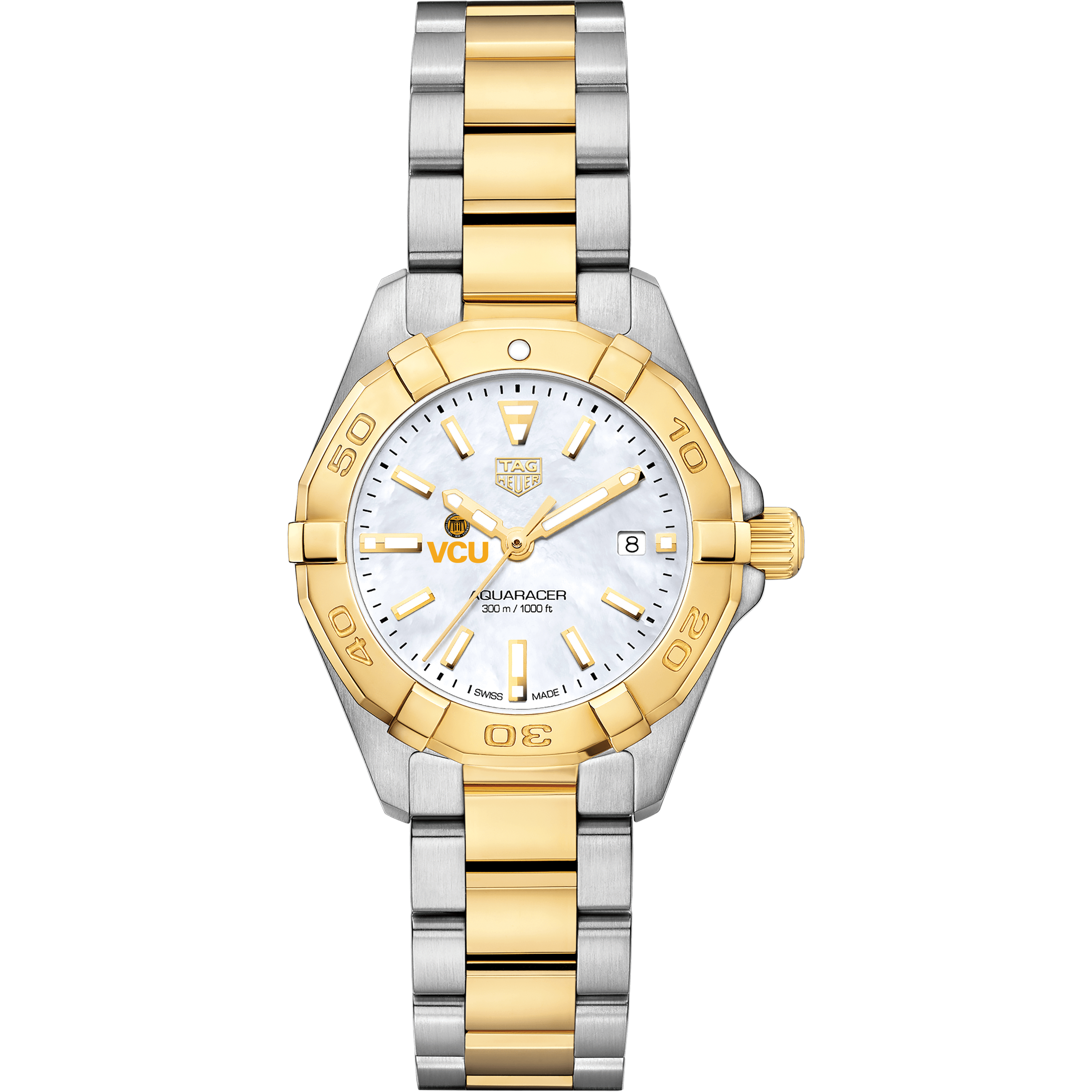 Virginia Commonwealth University TAG Heuer Two-Tone Aquaracer for Women - Image 2