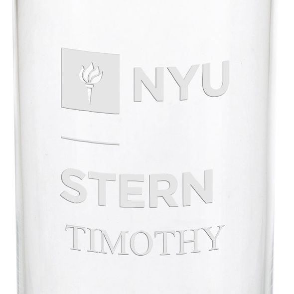 NYU Stern Iced Beverage Glasses - Set of 2 - Image 3