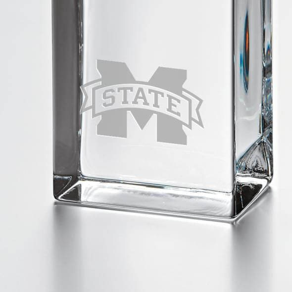 Mississippi State Tall Glass Desk Clock by Simon Pearce - Image 2