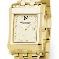 Northwestern Men's Gold Quad Watch with Bracelet
