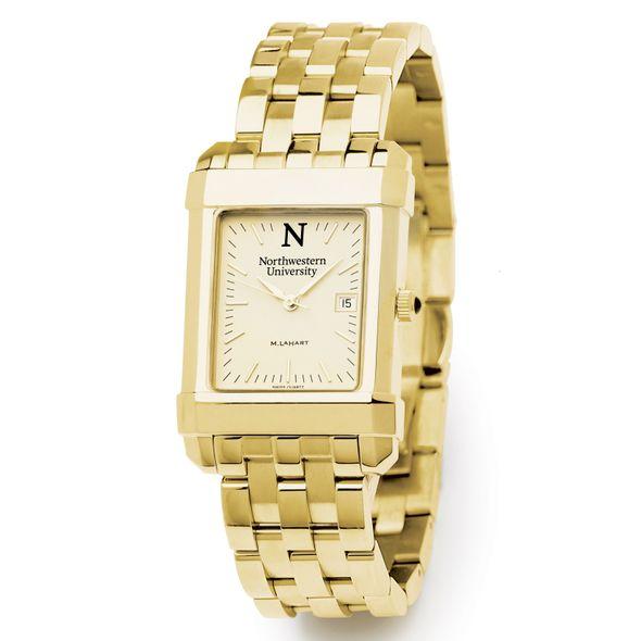 Northwestern Men's Gold Quad Watch with Bracelet - Image 2